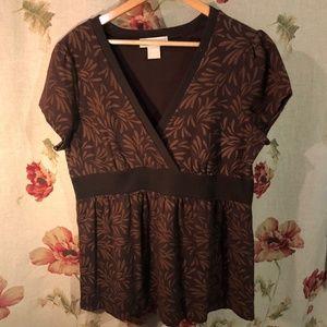 MICHAEL Michael Kors Brown patterned blouse Plus